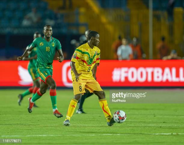 Diadie Samassekou of Mali during the 2019 African Cup of Nations match between Mali and Mauritania at the Suez Army stadium in Suez Egypt on June...