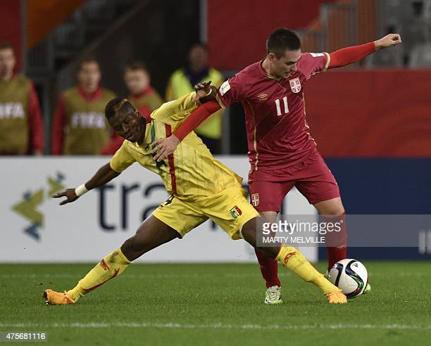 Diadie Samassekou of Mali fights for the ball with Nemanja Maksimovic of Serbia during the FIFA Under20 World Cup football match between Serbia and...