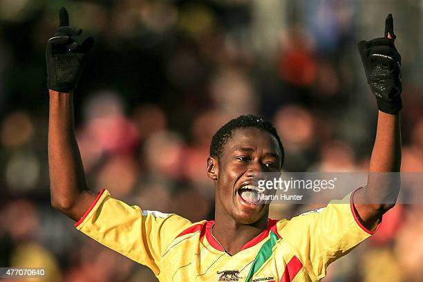 Diadie Samassekou of Mali shows his delight during the FIFA U20 World Cup New Zealand 2015 Quarter Final match between Mali and Germany at...