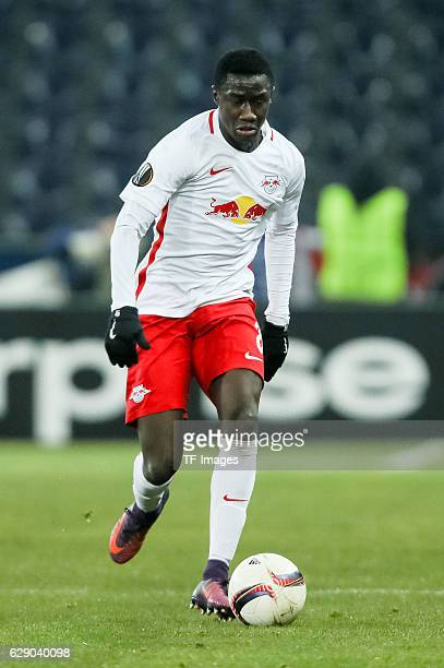 Diadie Samassekou of Salzburg in action during the UEFA Europa League match between FC Salzburg and FC Schalke 04 at Red Bull Arena in Salzburg...