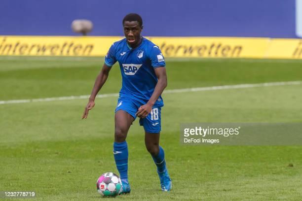 Diadie Samassekou of TSG 1899 Hoffenheim controls the Ball during the Bundesliga match between TSG Hoffenheim and FC Schalke 04 at PreZero-Arena on...