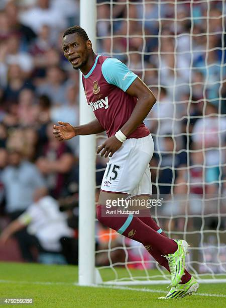 Diafra Sakho during the UEFA Europa League match between West Ham United FC and FC Lusitans at Boleyn Ground on July 2 2015 in London England