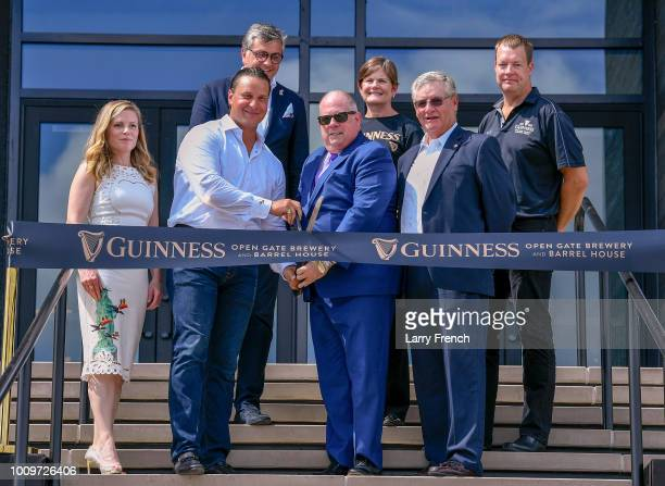 Diageo and Guinness executives cut the ribbon on the Guinness Open Gate Brewery Barrel House with Governor Larry Hogan and County Executive Don...