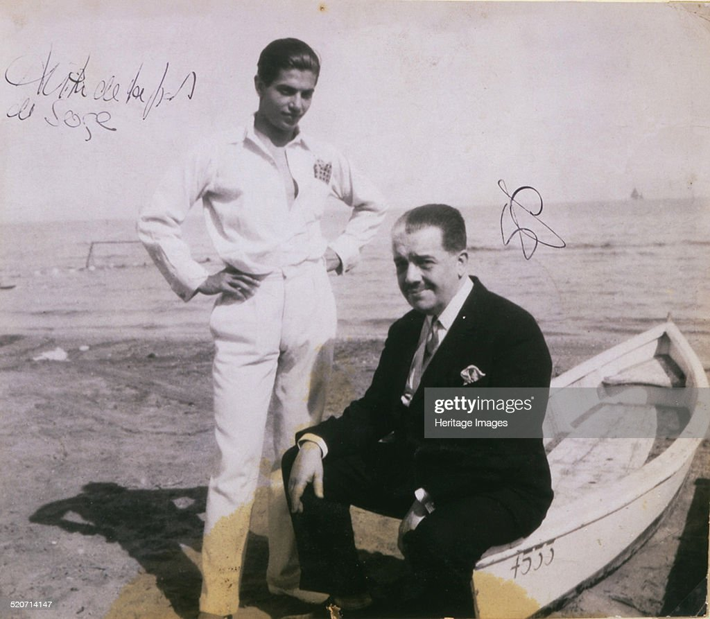 Diaghilev and Lifar Artist: Anonymous : News Photo