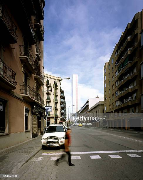 Diagonal MarSpain Architect Barcelona Me Hotel Exterior View Form Lateral As Seem Walking Along Almogavers Street Late Afternoon View Of Ground Level...