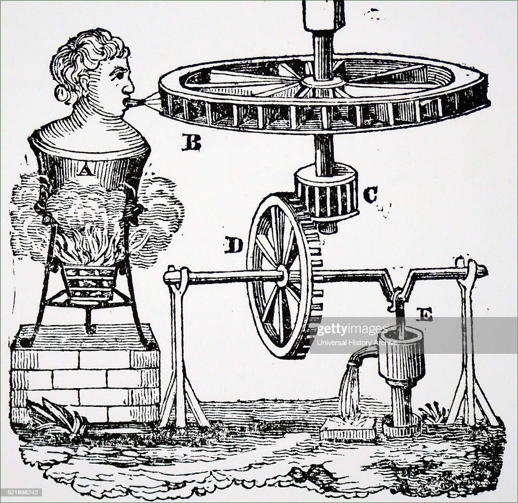 Giovanni Branca's steam engine. : News Photo