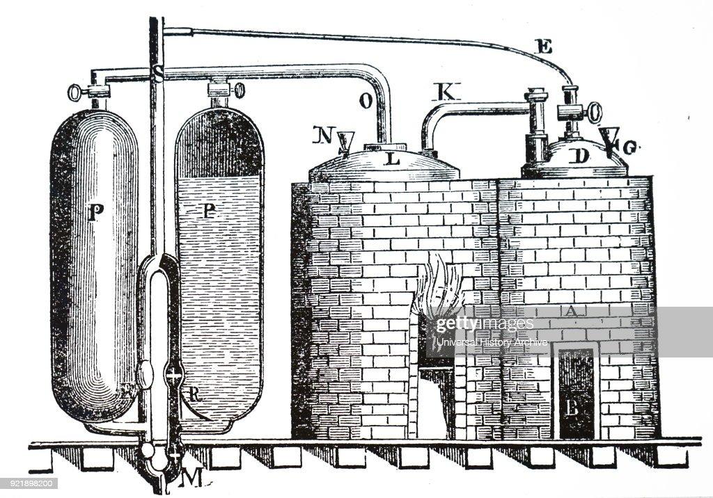 Thomas Savery's steam pump. : News Photo