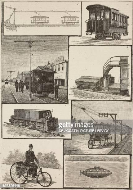 1 Diagram of a ThomsonHouston electric tram system 2 Sprague electric tram system station 3 Brooklyn tram 4 Sandwell tram 5 Immisch electric...