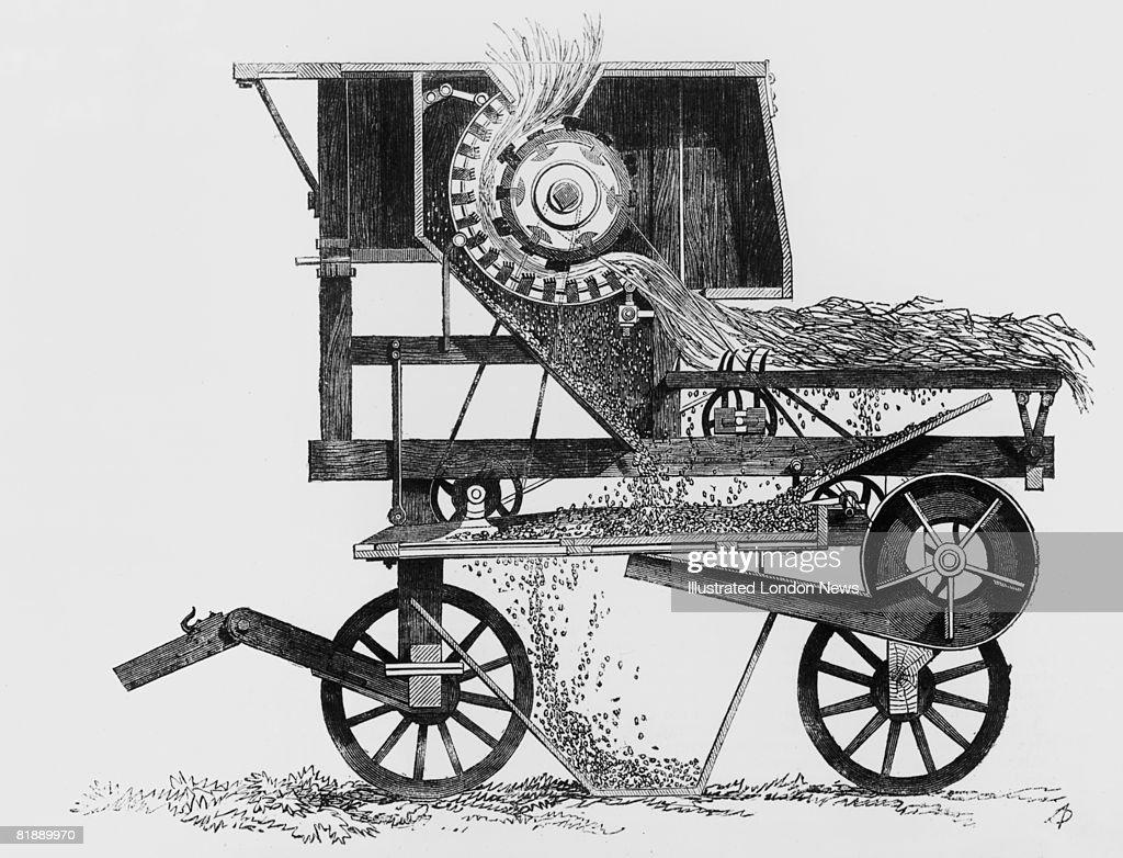 A Diagram Of A Threshing Machine By Garrett  1851