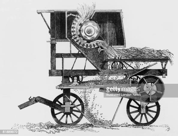 A Diagram Of A Threshing Machine By Garrett  1851