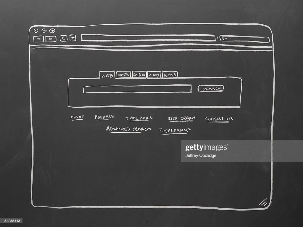 diagram of computer search window : Stock Photo