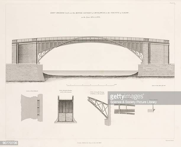Diagram of Thomas Telford�s design which was built between 1795 and 1796 with details of the soffits and kingposts The Buildwas bridge was Telford's...