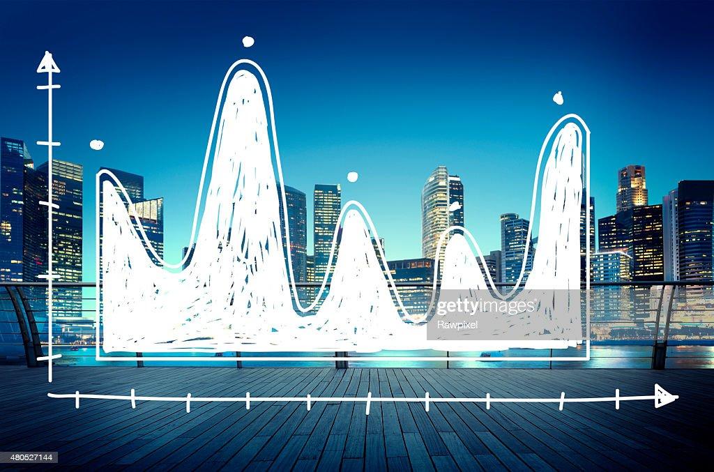 Diagram Parabola Investment Equation Graph Concept : Stock Photo