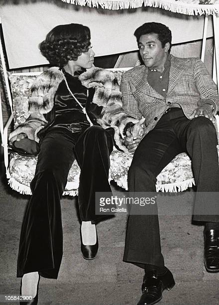 Diahann Carrol and Don Marshall during 'The Magic Christian' Los Angeles Premiere at Music Hall Theater in Los Angeles California United States