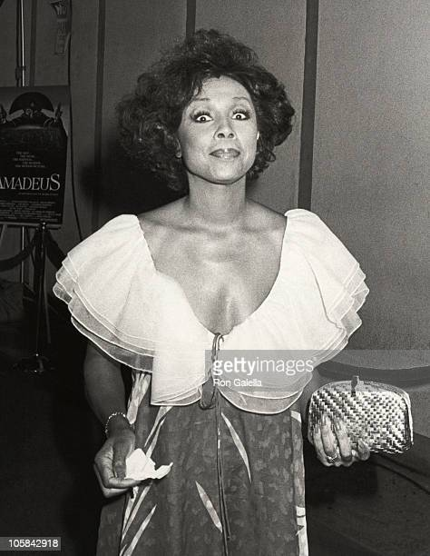 Diahann Carrol during Premiere of 'Amadeus' at Westwood Theater in Westwood California United States