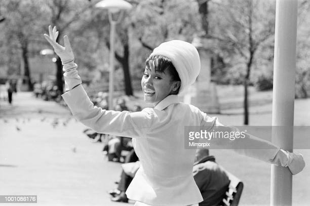 Diahann Carroll American Singer and Actress photocall at Victoria Embankment Gardens London Sunday 3rd May 1964 Diahann Carroll is in the UK to...