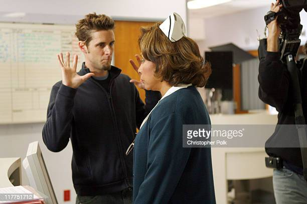 Diahann Carroll and director during 2006 TV Land Awards Spoof of Grey's Anatomy at Robert Kennedy Medical Center in Los Angeles California United...