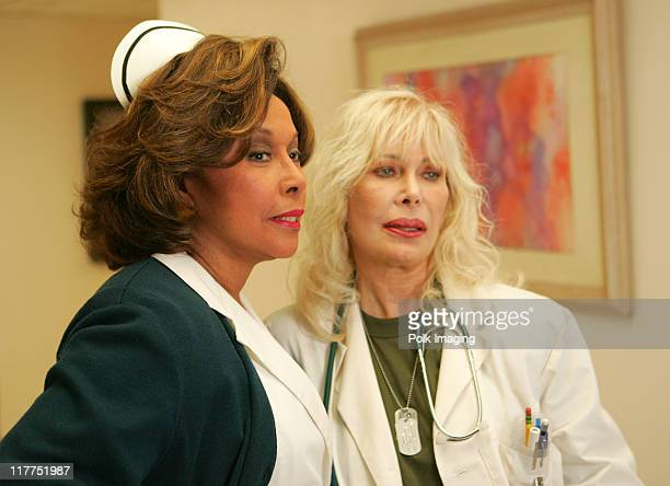 Diahann Carroll and Loretta Swit during 2006 TV Land Awards Spoof of Grey's Anatomy at Robert Kennedy Medical Center in Los Angeles California United...