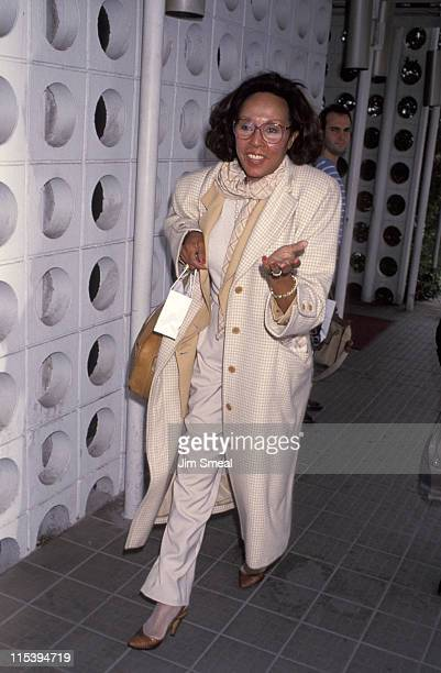 Diahann Carroll during Diahann Carroll Arriving At LAX From New York at Los Angeles International Airport in Los Angeles California United States