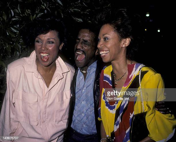 Diahann Carroll Sammy Davis Jr and Altovise Davis sighted on August 23 1984 at Le Dome Restaurant in West Hollywood California