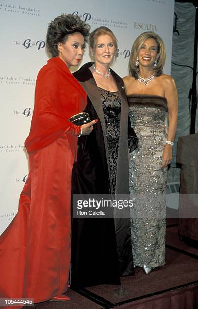 Diahann Carroll Sarah Ferguson and Denise Rich during GP Charitable Foundation for Cancer Research Honors Milton Berle at Sheraton Hotel in New York...