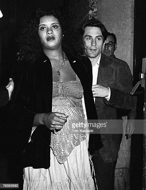 Diahnne Abbott and Actor Robert De Niro and sighted at the Sherry Netherland Hotel in 1975 in New York City, New York.