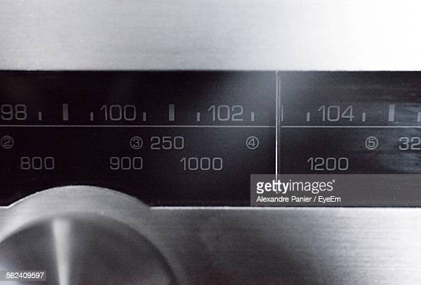 Dial And Numbers On Radio
