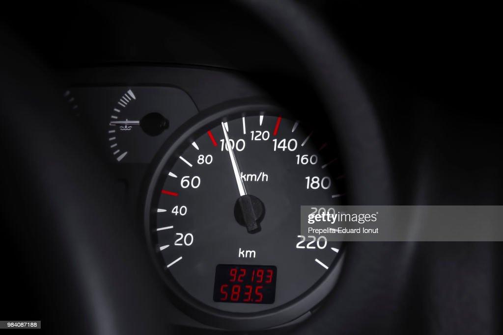 Dial mileage : Stock Photo