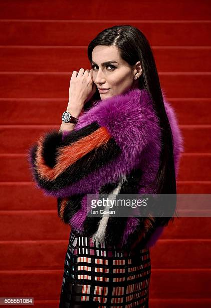 Diala Makki at the Roger Dubuis stand during the SIHH 2016 on January 18 2016 in Geneva Switzerland