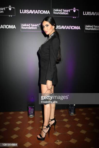 Diala Makki attends LuisaViaRoma and Naked Heart Foundation Dinner on January 09 2019 in Florence Italy