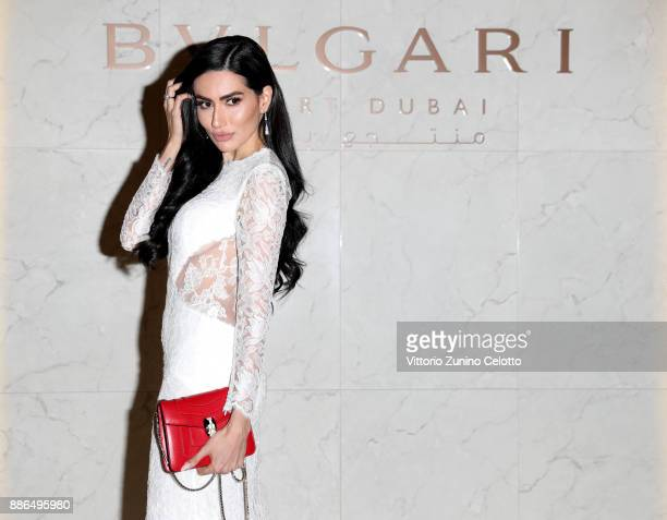 Diala Makki attends the Grand Opening of Bulgari Dubai Resort on December 5 2017 in Dubai United Arab Emirates
