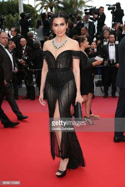 Diala Makki attends the screening of 'Solo A Star Wars Story' during the 71st annual Cannes Film Festival at Palais des Festivals on May 15 2018 in...