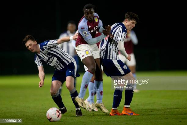 Dialla Sylla of Aston Villa in action during the Premier League 2 between Aston Villa and West Bromwich Albion at Bodymoor Heath training ground on...