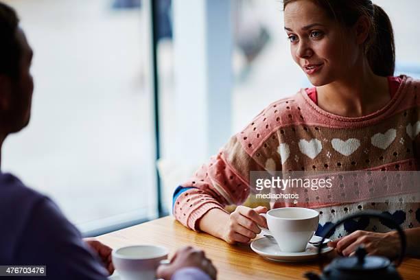 Dialogue at cafe