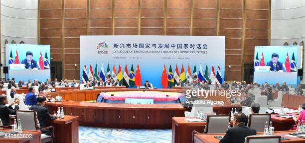 Dialogue of Emerging Market and Developing Countries meeting held under the presidency of China's president Xi Jinping during the Brazil Russia India...