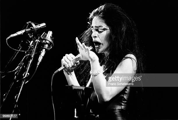 Diamanda Galas performs live on stage at Paradiso in Amsterdam, Netherlands on June 13 1984