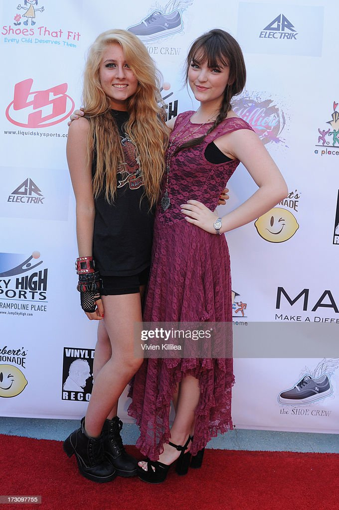 Diamante and Abi Ann attend Shoe Crews Summer Concert on July 6, 2013 in Simi Valley, California.