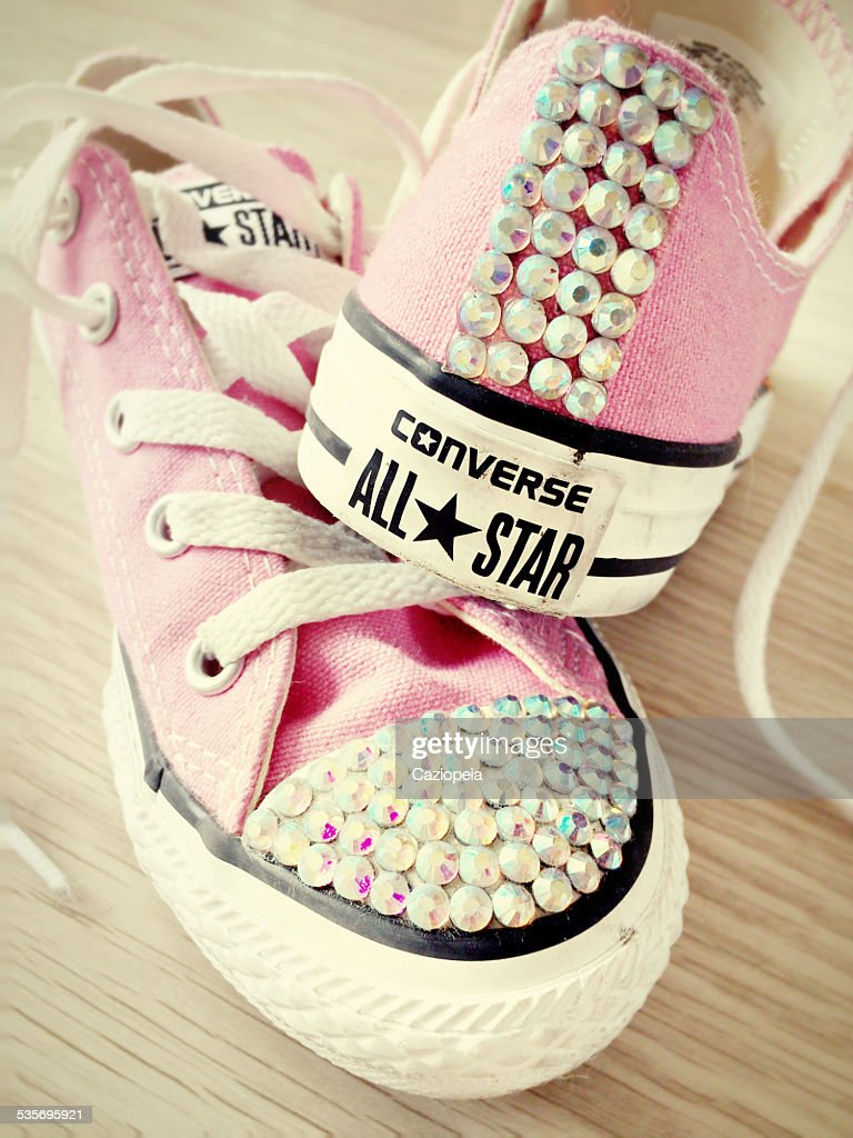 04ad9c0ee239 Diamante Converse All Star Trainers   Stock Photo