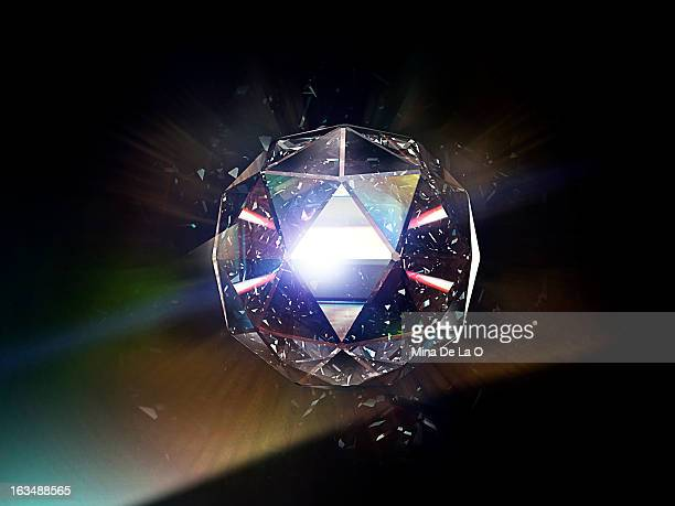diamond 01 - diamond gemstone stock pictures, royalty-free photos & images
