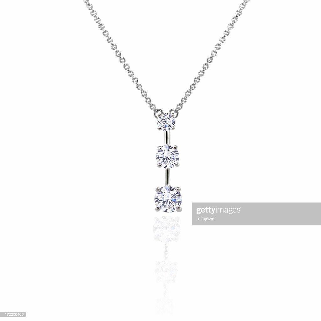 Diamond 3 Stone Pendant : Stock Photo