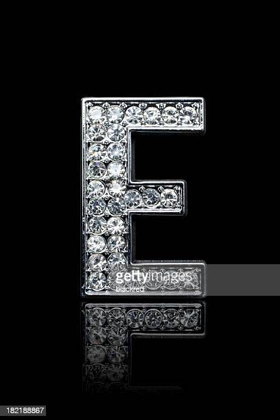 diamond alphabet e - font stock pictures, royalty-free photos & images