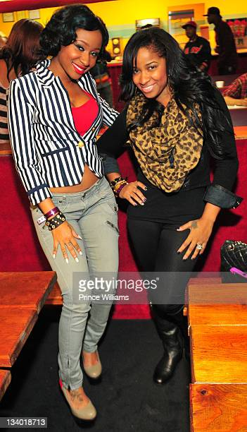 Diamond and Antonia Wright attend the 2011 Roll Over Hunger Charity and Skate Jam at the Cascade Family Skating Rink on November 23, 2011 in Atlanta,...