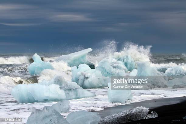 diamond beach iceland - gunnar örn árnason stock pictures, royalty-free photos & images