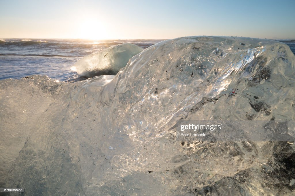 Diamond Beach Iceland Winter 2017 Stock Photo Getty Images