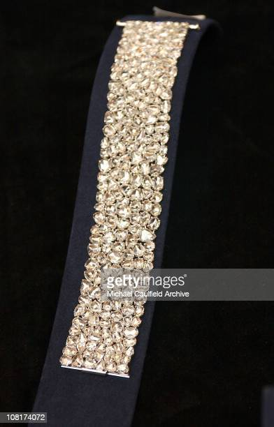 Diamond bracelet by Fred Leighton during InStyle Magazine and The Diamond Trading Company Kick Off the 2005 Award Season with $30 Million Worth of...