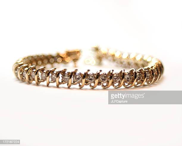 diamond bracelet - bracelet stock pictures, royalty-free photos & images