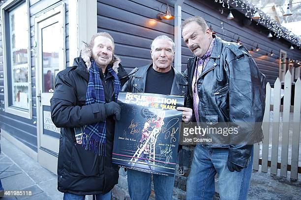 Diamond Dallas Page Scott Hall and Jake 'The Snake' Roberts pose on Main Street during the 2015 Sundance Film Festival on January 22 2015 in Park...