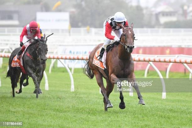 Diamond Effort ridden by Ben Melham wins the Robert Hunter Handicap at Caulfield Racecourse on February 01 2020 in Caulfield Australia