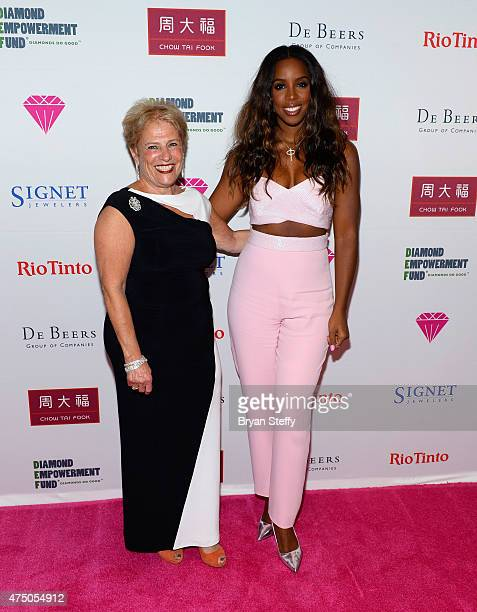 Diamond Empowerment Fund President Governing Board Phyllis Bergman and recording artist Kelly Rowland attend the Diamond Empowerment Fund presents...