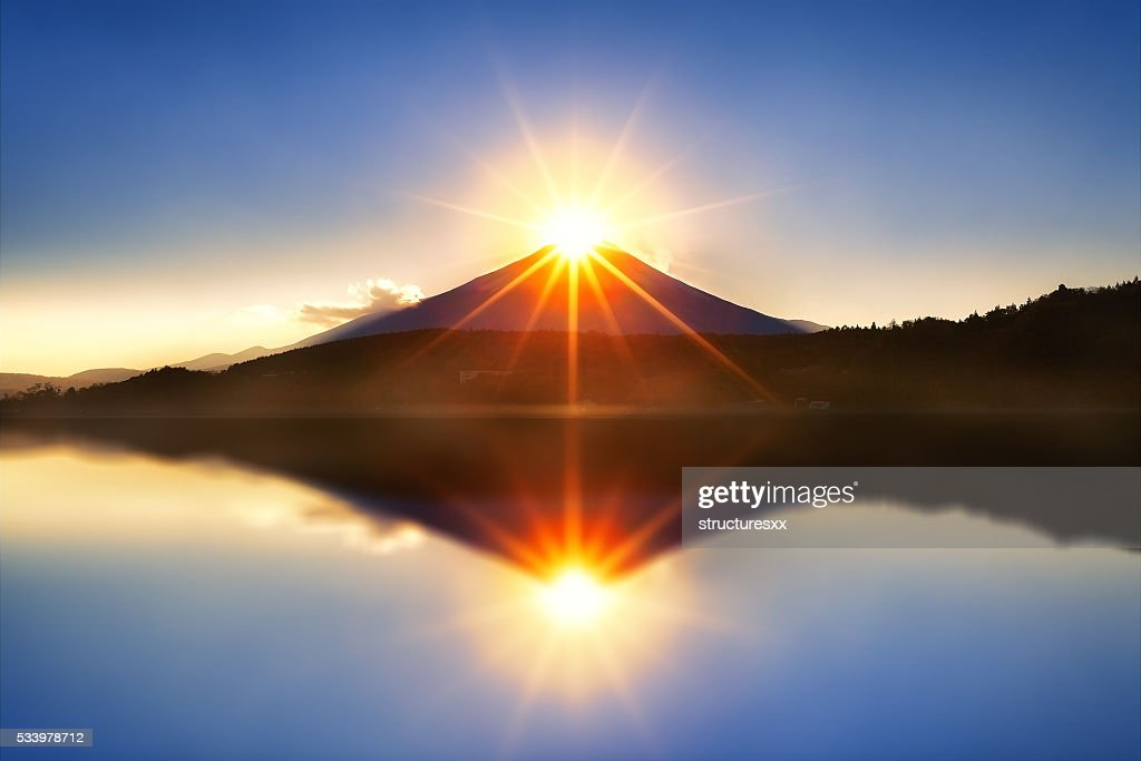 Diamond Fuji : Stock Photo